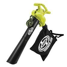 Sun Joe Sbj603E Electric Blower Vacuum Mulcher 13-Amp 3-in-1 240 Mph 12 Gal 6Spd