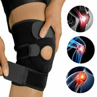UK Knee Arthritis Support Brace Guard Stabilizer Strap Wrap Open Patella Black