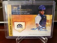 2012 Topps Golden Moments Wilin Rosario #GMA-WR Rookie Auto