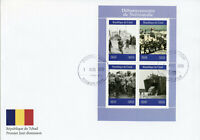 Chad 2019 FDC WWII WW2 Normandy Landings D-Day 4v MS Cover Military Ships Stamps