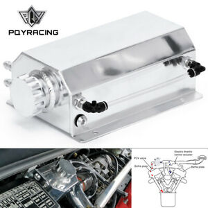 Universal Aluminum 2000ml Coolant Radiator Overflow Recovery Water Tank Bottle