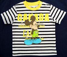Neu! Disney Mickey Mouse Stretch T-Shirt Shirt Pulli blau-weiß Gr. 74