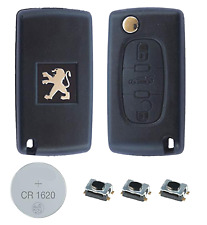 Fits Peugeot 207 307CC 308 308SW 3 Button KEY FOB REMOTE CASE Repair Fix Kit
