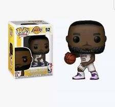 Funko Pop #52 NBA LAKERS LEBRON JAMES White Purple Jersey 23 In Hand w/Protector