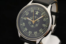 LACO Pilot's RARE WAR2 WW2 watch in NEW stainless steel case MILITARY