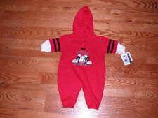 NEW Chicago Bulls Hoody Romper Baby Size 18M 18 Mo Boys Girls Coverall Creeper