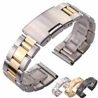 Watch Band Strap Stainless Steel Bracelet Straight Clasp 18mm 20mm 22mm 24mm
