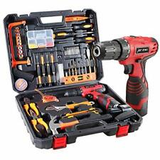 108 Piece Power Tool Combo Kits with 16.8V Cordless Drill, Household 108Pcs