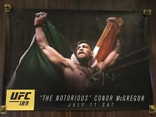 UFC 189 CONOR MCGREGOR SIGNED FIGHT POSTER