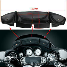 Windshield Bag Saddle 3 Pouch Pocket Fairing For Harley Touring Electra Street