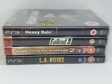 Ps3 Games Bundle Heavy Rain Fallout LA Noire Modern Warfare 2 Call of Duty GC