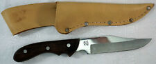 Vintage Maxam Special 420 Stainless Steel Hunting Knife with Leather Sheath