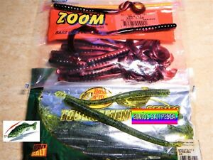 ZOOM BassPro Shops SEÑUELOS PESCA LOMBRICES BLACK BASS LUCIO BAIT LURES