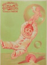 1880's Brooks & Walbridge Bros. Furniture & Carpeting Clown Bubbles Cherub P67