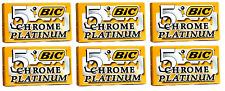BIC Chrome Platinum Double Edge Safety Razor Blades, 30 Count