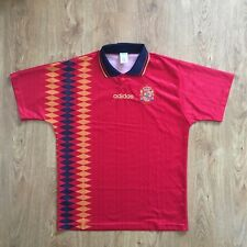 VINTAGE ADIDAS SPAIN ESPAÑA FOOTBALL SHIRT CAMISETA SHIRT TRIKOT 1994-1996 L