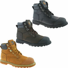 Grafters Men's Lace Up Work 100% Leather Boots