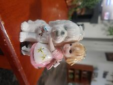 Josef Originals Japan little girl with dog 3in. Tall