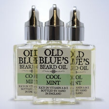 Old Blues Beard Oil  Cool Mint Scent 100% Natural with Vitamin E 30ml