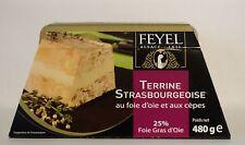 Ganso sopera strasbourgeoise piedra hongo foie gras d 'oie 480g francia Feyel