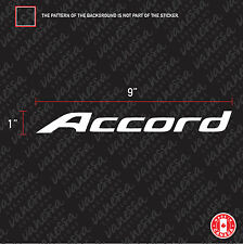 2X HONDA ACCORD LOGO sticker vinyl decal