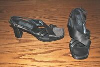 Women's CALICO Brown Heel Sandals Size 7 M MADE IN BRAZIL!!!