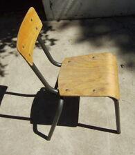 Chaise d'Ecole Pour Enfant MULLCA Métal et Bois Vintage 1960