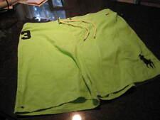NWT - Mens RALPH LAUREN Green Lined Swimsuit (Size 3XB)