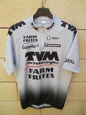Maillot cycliste TVM FARM FRITES Tour France 2000 Nalini trikot jersey shirt 4 L