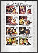 Pinturas-Caravaggio/mocambique MiNr Block 4087/94 ** pequeños arcos