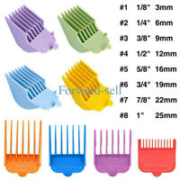 8Pcs Hair Clipper Limit Combs Guide Attachment Cutter Size Replacement Universal