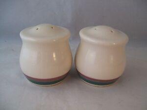 Pfaltzgraff Juniper Salt & Pepper Shaker Set USA Stoneware Active Pattern