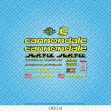 CANNONDALE Jekyll 1000 Bicicletta Decalcomanie-Transfers-ADESIVI-GIALLO - SET 0639