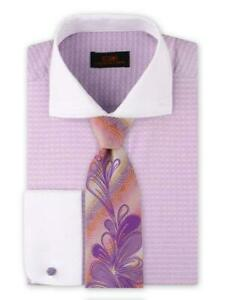 Dress Shirt Only by Steven Land Classic Fit- French Cuff -Purple- DW1909-PU