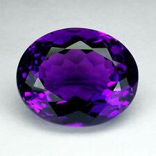 16x12mm Oval-faceta profundo-Púrpura natural uruguayo con amatista (App £ 395)