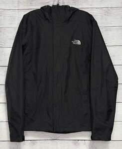 The North Face Men's Black Full Zip Hooded Windbreaker Jacket Size Medium