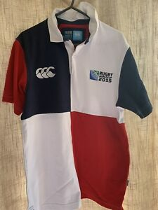 CANTERBURY Rugby Polo Shirt Size Small 2015 WORLD CUP irb Used Very Good.