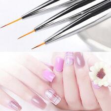 3Pcs Nail Brushes Kit Painting Pen Brush Liner Drawing Tools DIY Manicure LG