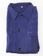 Veste bleu de travail indigo Neuf old stock t. 56 XXL vintage work chore jacket