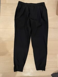 "Lululemon Mens Surge Jogger Pants Medium Black Shorter 27"" Inseam"