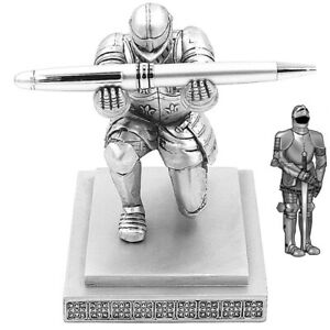 Vintage Pen Holder Executive Knight Pen Holder Stand School Office Stationery