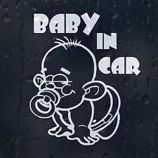 Bebé en coche decal Vinilo Adhesivo Para Panel O Parachoques O Ventana