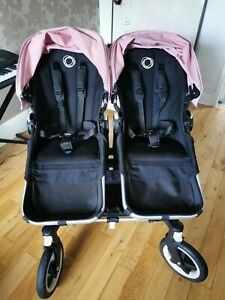 Bugaboo Donkey Pink Twin Double Pram Buggy Immaculate(Excellent condotion)