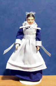 1/12, Dolls House Miniature Porcelain Nanny / Maid Servant Doll, Kitchen BN LGW