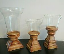 3 Southern Living at Home Kensington Hurricane Candle Holders 4701 4706 4707