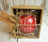 Rae Dunn red Christmas Ornament Holly Jolly Brand new (2019) by Magenta