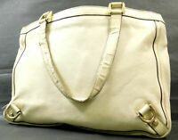 Gucci GG Leather Tote Hand shoulder Shopping bag Purse Ivory Auth