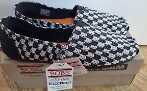 Bobs Skechers Plush Westie Check Bnib Size 8