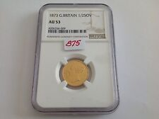 1873 Great Britain Half Sovereign NGC AU 53