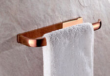 Copper Towel Rack Ring Holder Rose Gold Wall Mounted Hanger Bathroom Accessories